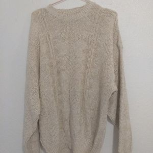 Orvis Mens Cream Sweater Xl
